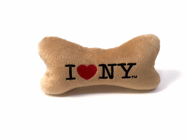 I LOVE NY Plush Bone - Tan