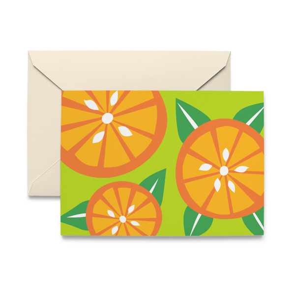 Orange Slice Note Card