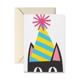 Peeking Kitty Birthday Greeting Card