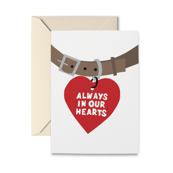 Pet Tag Bereavement Card