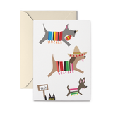 Spanish Doggies Thank You Greeting Card