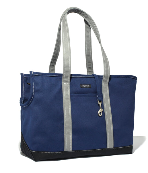 Wagwear Canvas Carrier - Navy, Black & Grey