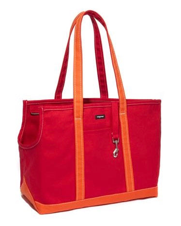 Wagwear Canvas Carrier - Red & Orange