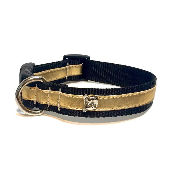 Zoomies City Gold Metallic Collar