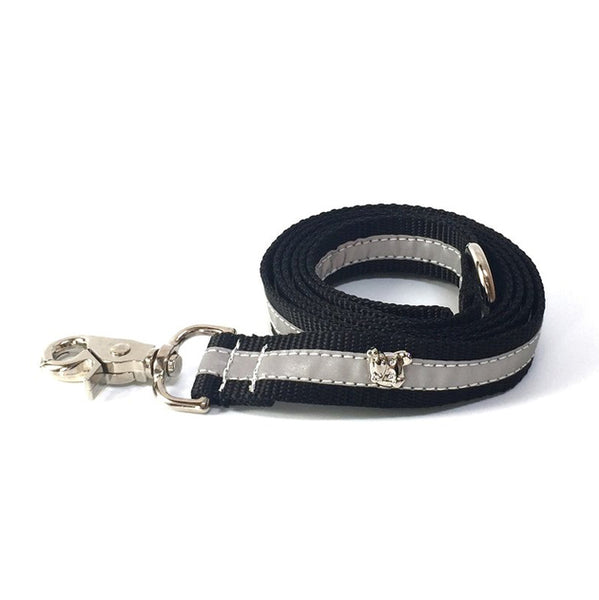 Zoomies City Silver Reflective Leash