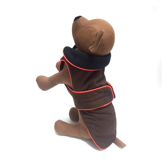Zoomies Classic Coat - Coffee/Orange