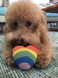 Crochet Rainbow Heart Toy
