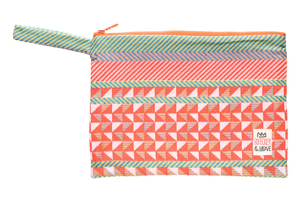 Bleecker & Love Cotton Zip Pouch -   Pink Morocco