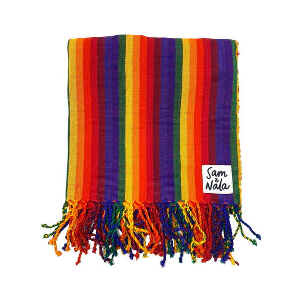 RAINBOW STRIPES THROW
