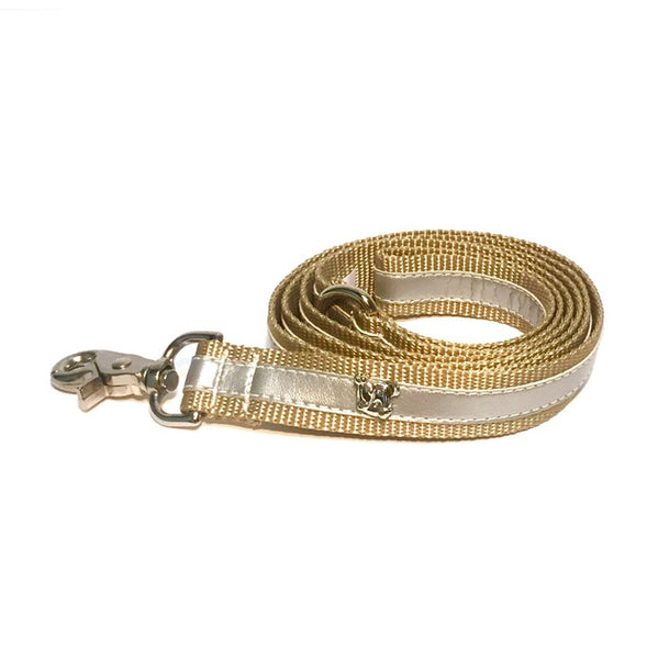 Cabana Silver Metallic Leash