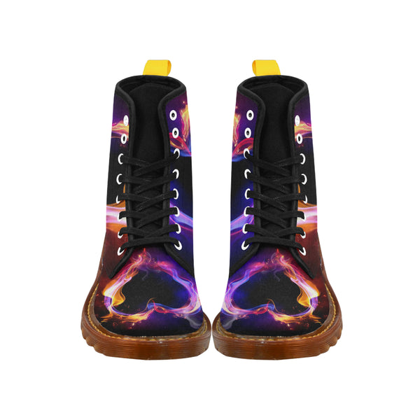 Fire Heart - Unique Print Boots For Women
