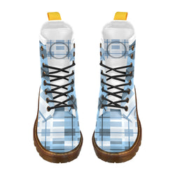 Tic Tac Plaid - Unique Print Boots For Men