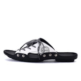 Unique Stylish 2 Tone Lace Up Sandals