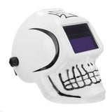 Unique Skull Mould Solar Powered Auto Darkening Welding Helmet