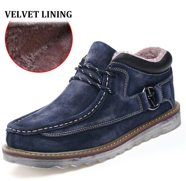 Comfortable And Stylish Leather/Velvet Thick Soled Ankle Boots