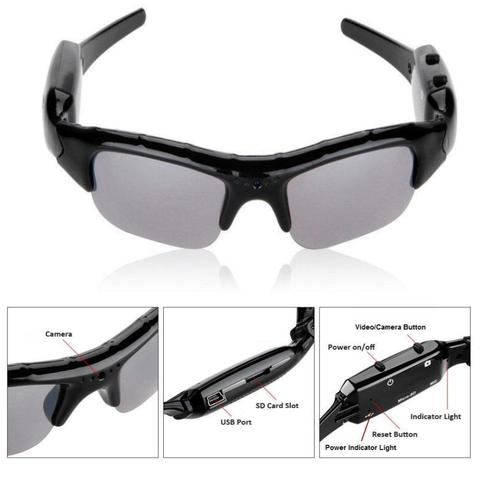 Outdoor Action Sport Spy Mini Video Camera Sunglasses