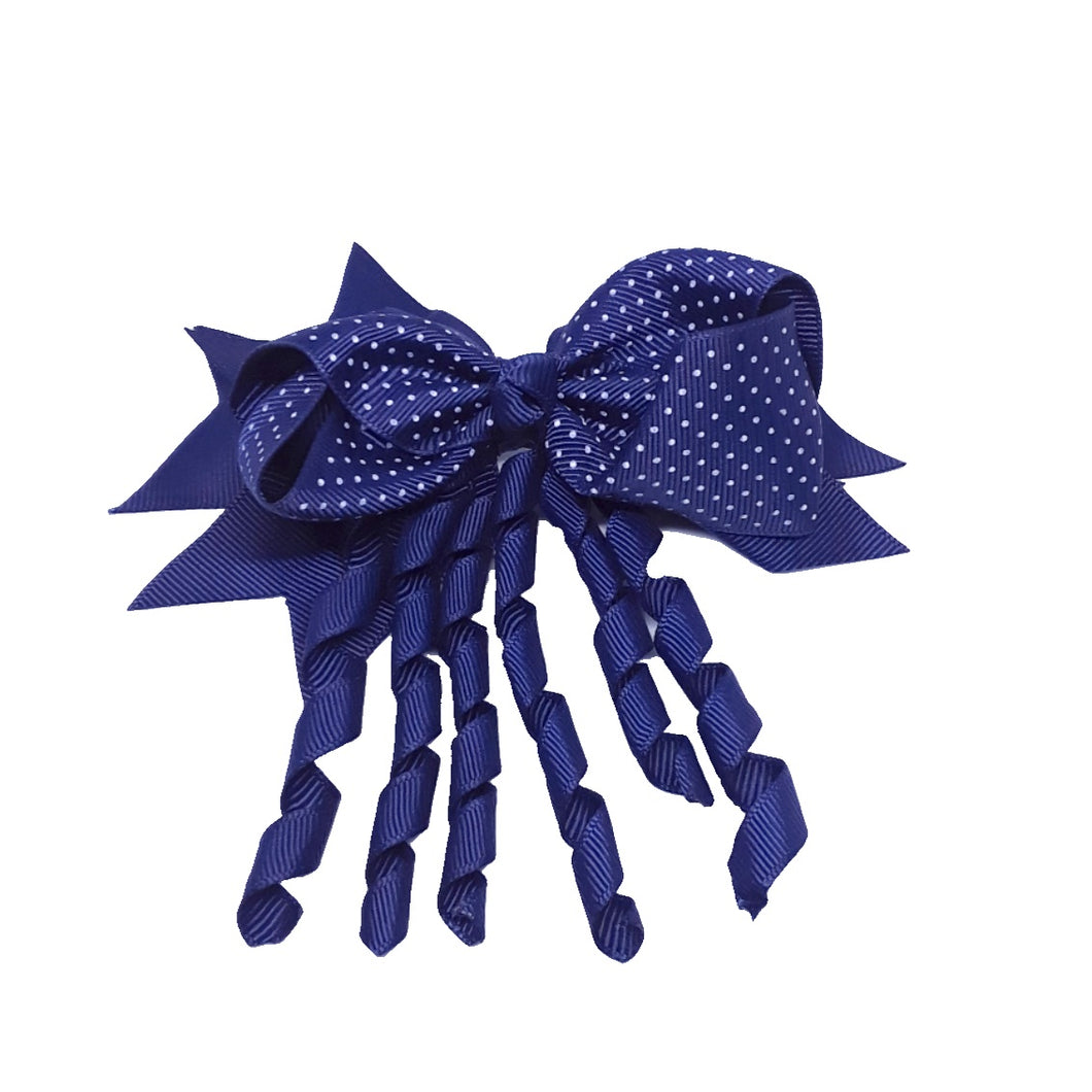 Navy Blue Polka Dot 5