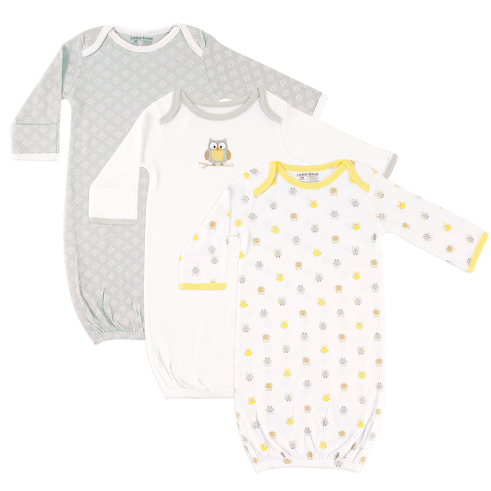 3-PK Infant Gowns (Owls)