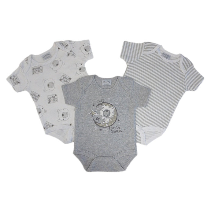 Little Bear 3 Pc. Gray Onesie Set