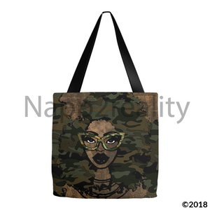 Fashion Fro Army Tote Bags 13X13 Inch