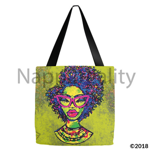 Fashion Fro Rainbow Tote Bags 13X13 Inch