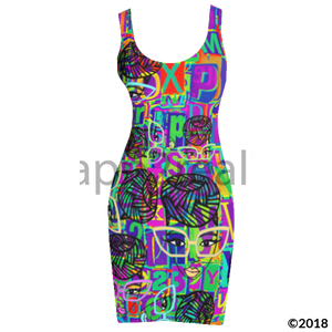 Genius Pop Artphabet Tank Dress