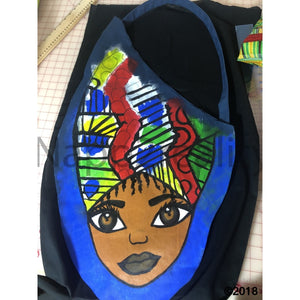Head Wrap Cutie Custom Autographed Saddle Tote Bags