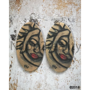 Live And Loc Earrings 3 Inches