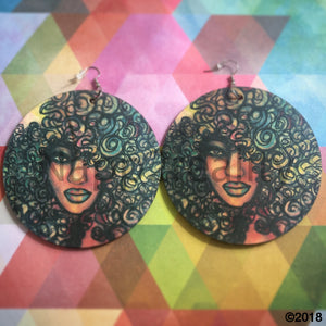 Jumbo Chocolate Rainbow Custom Earrings 3.5 Diameter