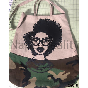 Custom Fashion Fro Army Tote Bag Bags