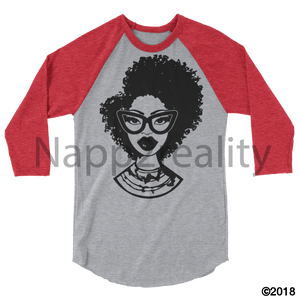 Fashion Fro Blnw 3/4 Sleeve Raglan Shirt Heather Grey/heather Red / Xs
