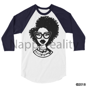 Fashion Fro Blnw 3/4 Sleeve Raglan Shirt White/navy / Xs
