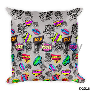 Genius Pop Art Square Pillow