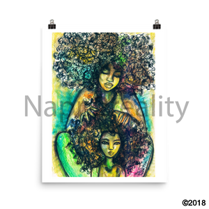 Mommy And Me Art Print 16×20