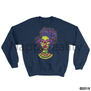 Fashion Fro Rainbow Sweatshirt White / S