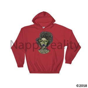 Fashion Fro Brown Hooded Sweatshirt Red / S