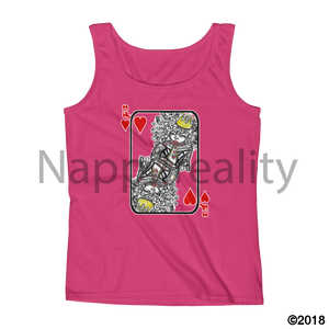 Natural Queen Of Hearts Ladies Tank White / S