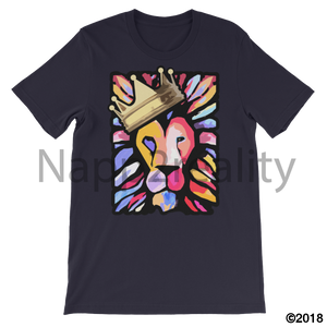 Lion Of Judah Mens T-Shirt Navy / S