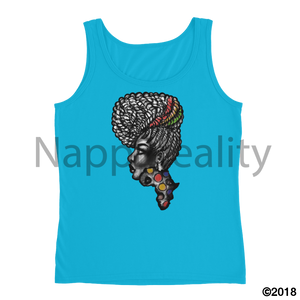 Candy Africa Ladies Tank Heather Grey / S