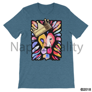 Lion Of Judah Mens T-Shirt Heather Deep Teal / S