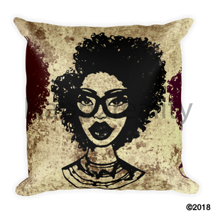 Fashion Fro Brown Square Pillow