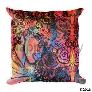 Curls Of Change Pillow