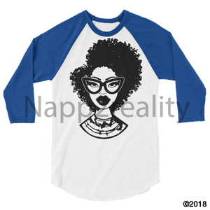 Fashion Fro Blnw 3/4 Sleeve Raglan Shirt White/royal / Xs