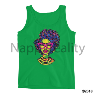 Fashion Fro Rainbow Ladies Tank Green Apple / S