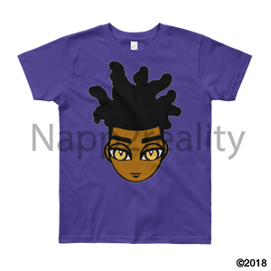 Loc Boy Youth Short Sleeve T-Shirt Purple / 8Yrs