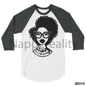 Fashion Fro Blnw 3/4 Sleeve Raglan Shirt White/heather Charcoal / Xs