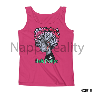 Hair Praise Ladies Tank White / S
