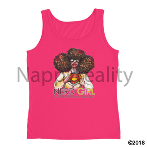 Nerd Girl Ladies Tank Hot Pink / S