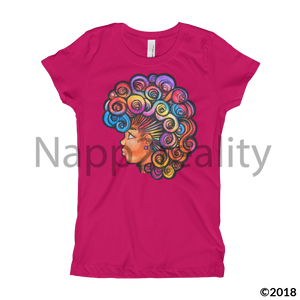 Rainbow Hawk Girls T-Shirt Heather Grey / Xs