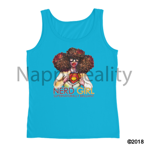 Nerd Girl Ladies Tank Caribbean Blue / S